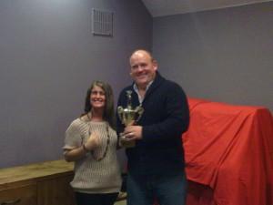 David Hayle Receives the Durham Ox Trophy